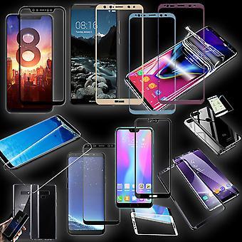 Display protection for smartphones TPU hybrid films / 2. 5 d 0, 26mm H9 / 3D 0, 3mm H9 / 4 d 0, 3mm H9 hard glasses