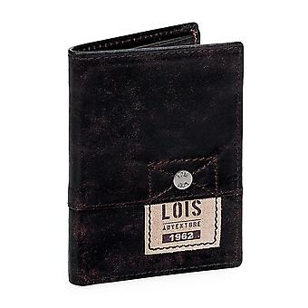 Purse wallet genuine leather business card holder Lois 12518