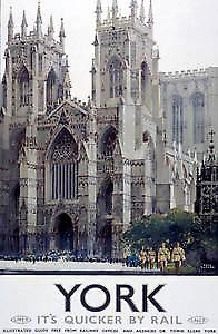 York Minster (old rail ad.) fridge magnet