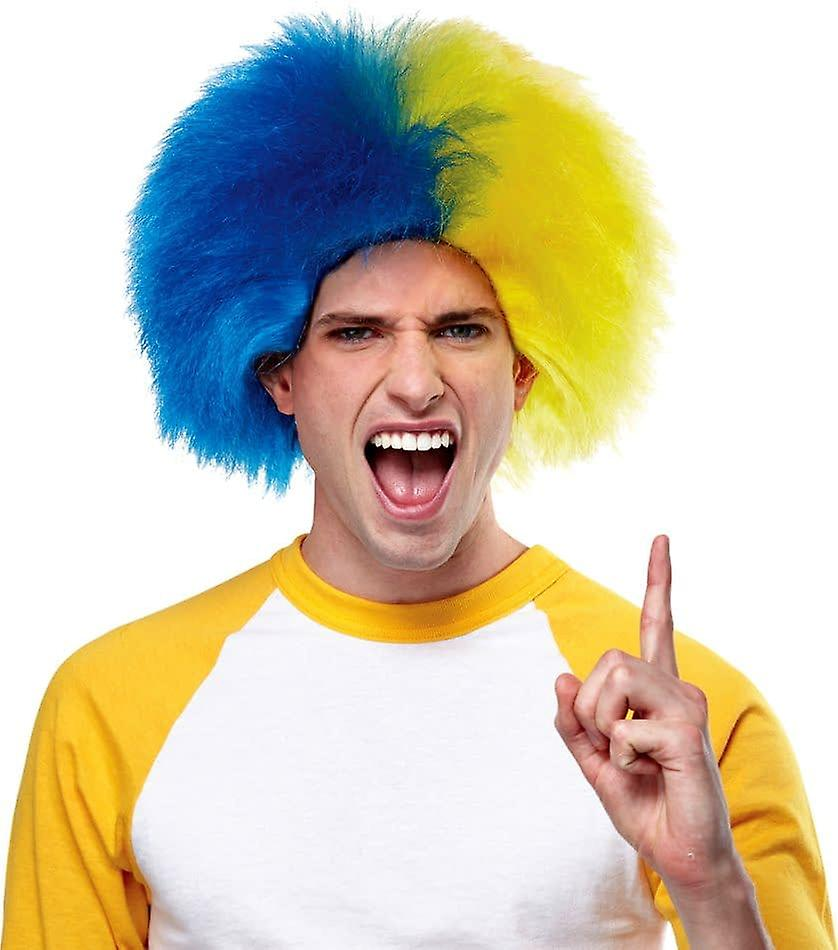 Wig For Sports Fun Blue Gold