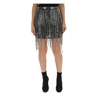 Amen Silver Viscose Skirt