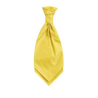 Dobell pojkar gul Cravat fest bröllop maskeraddräkter tillbehör Dupion