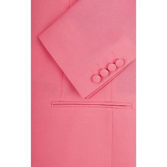 Mens Candy Pink 2 Piece Suit Regular Fit Notch Lapel Novelty Partywear by d/Spoke