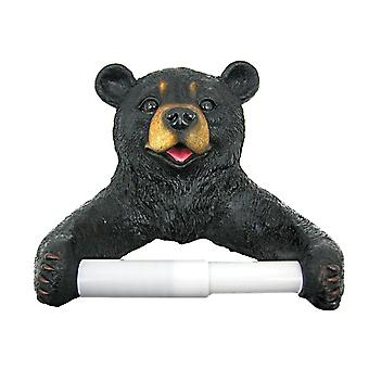 Cute Black Bear Cub Toilet Paper Roll Holder Nature