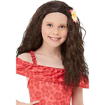 Children's Girls Hawaiian Wig with Flower