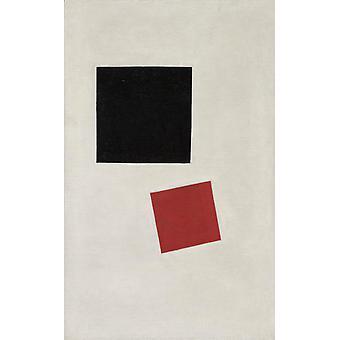 Black Square et la place rouge, Kasimir Malevich, 71 (1) x44cm