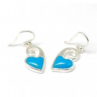 The Olivia Collection Sterling Silver Blue Heart Twist Drop Earrings