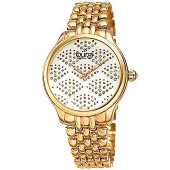 Burgi Women's BUR205 Swarovski Crystal Diamond Sparkle Bracelet Watch BUR205YG