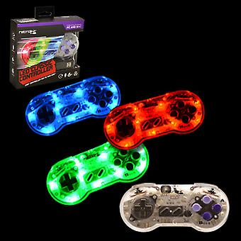 SNES Controller USB Blue/Red/Green LED Retrolink - PC