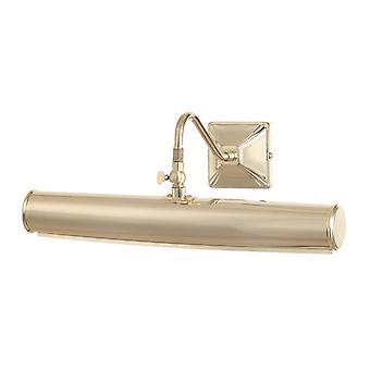 Picture Light 2lt Large Polished Brass