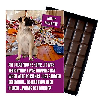Bullmastif Funny Birthday Gifts For Dog Lover Boxed Chocolate Greeting Card Present