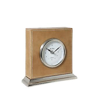 Light & Living Clock 20X6X19,5 Cm Big Ben Nickel Leather Brown