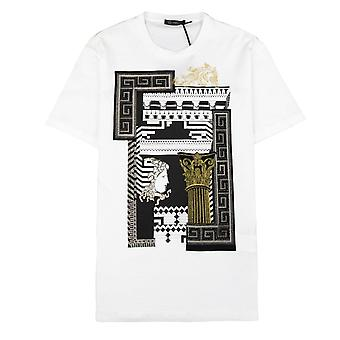 Versace Medusa Column T-shirt White/Gold