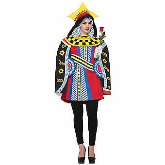 Königin der Herzen Spielkarten Poker Alice im Wunderland Buch Woche Frauen Kostüm