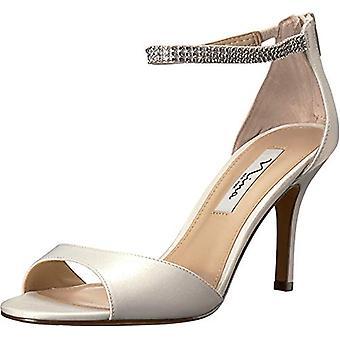 Nina Womens Volanda Satin Open Toe Special Occasion Ankle Strap Sandals