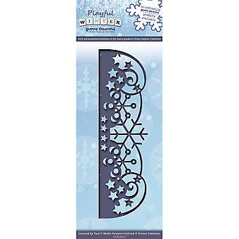 Find It Trading Yvonne Creations Playful Winter Die-Snowflake Border YCD10017
