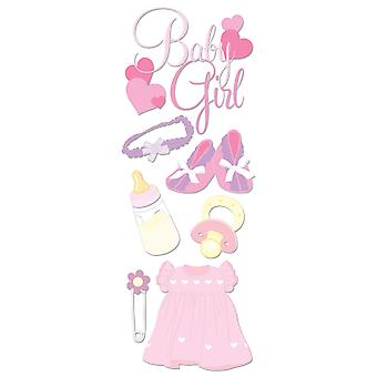 Touch Of Jolee's Dimensional Sticker Baby Girl Spjj 197