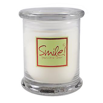 Lily Flame Scented Candle in Decorative Jar - Smile