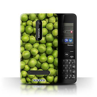 STUFF4 Case/Cover for Nokia Asha 210/Green Garden Peas/Food