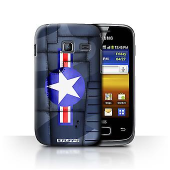 STUFF4 Case/Cover for Samsung Galaxy Y Duos/S6102/America/Blue/Airplane Fighter Wing