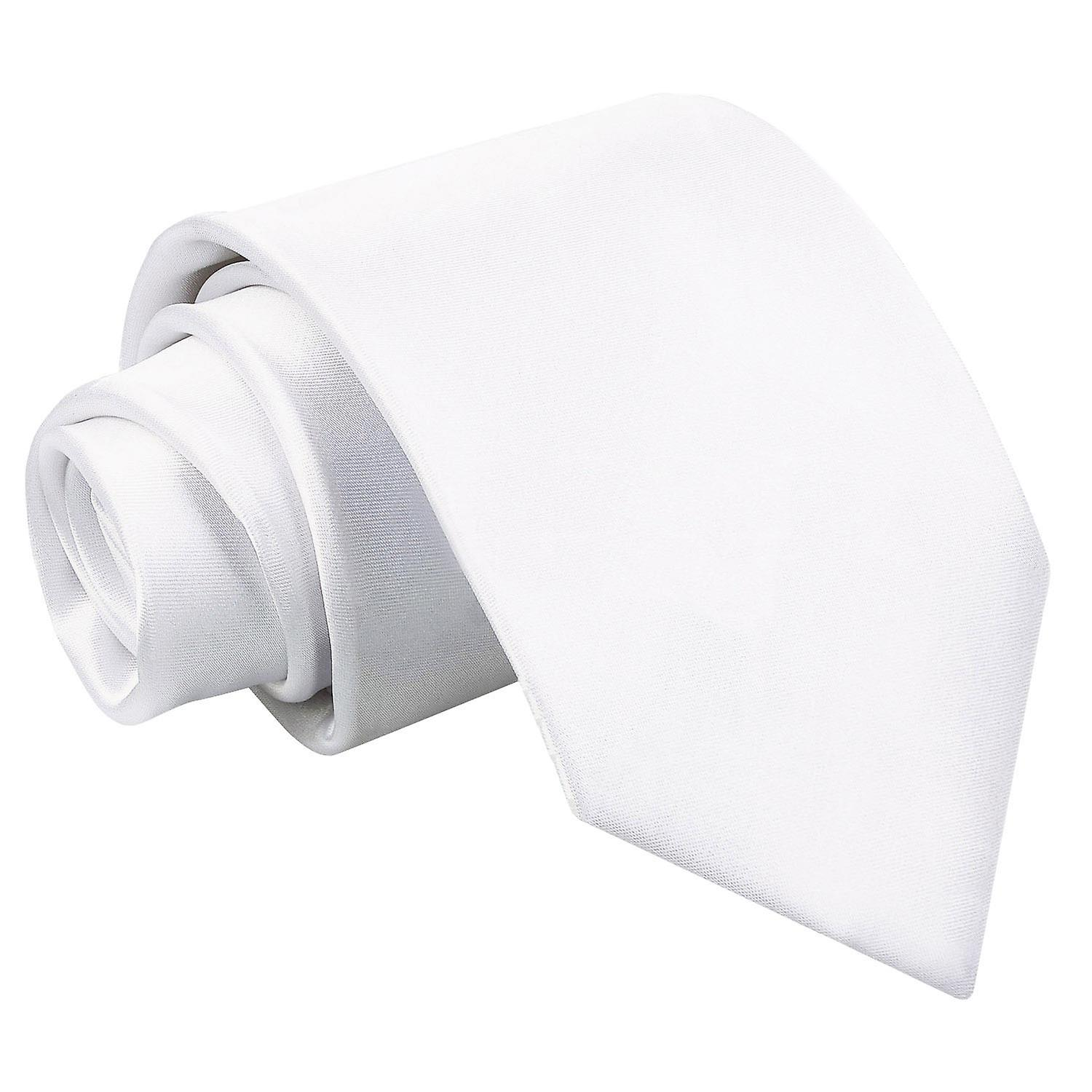 White Plain Satin Tie