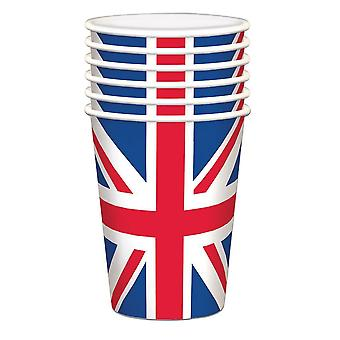 UNION JACK Paper Cups 20 Packs - Great Britain