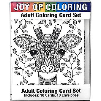 Joy Of Coloring Adult Coloring Card Set 4