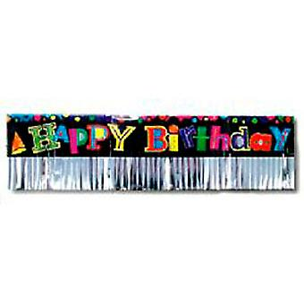 Happy Birthday Banner Folie Fransar 6ft