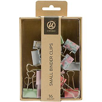 Small Binder Clips 16/Pkg-Assorted 619T0624