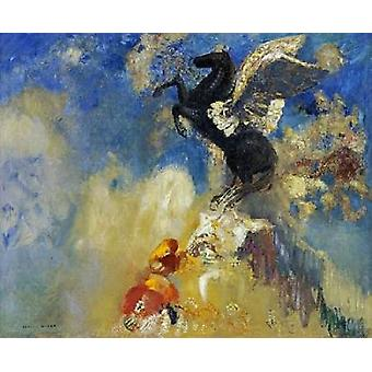 The Black Pegasus Poster Print by  Odilion Redon