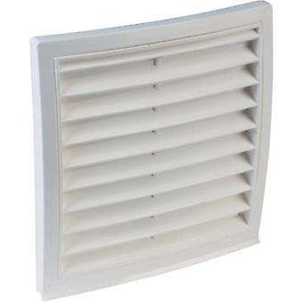 Vent grille PVC Suitable for pipe diameter: 150 mm Wallair Outer grid circular connector 150, m. window net, white