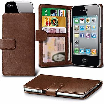 iTronixs - LG K4 2017 (5 inch) Case Clamp Style Wallet Protective PU Leather Case Cover - Brown