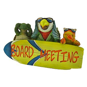 Tropical Paradise `Board Meeting` Plaque