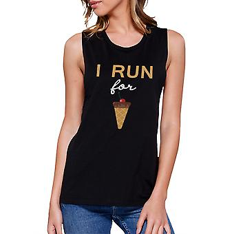 I Run For Ice Cream Work Out Muscle Tee Gym Sleeveless Tank