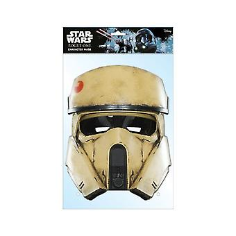 Shoretrooper Rogue One: A Star Wars Story Single 2D Card Party Face Mask
