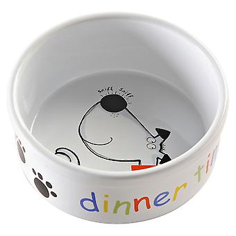 Mason Cash middag tid hund skål 15 X6.5cm