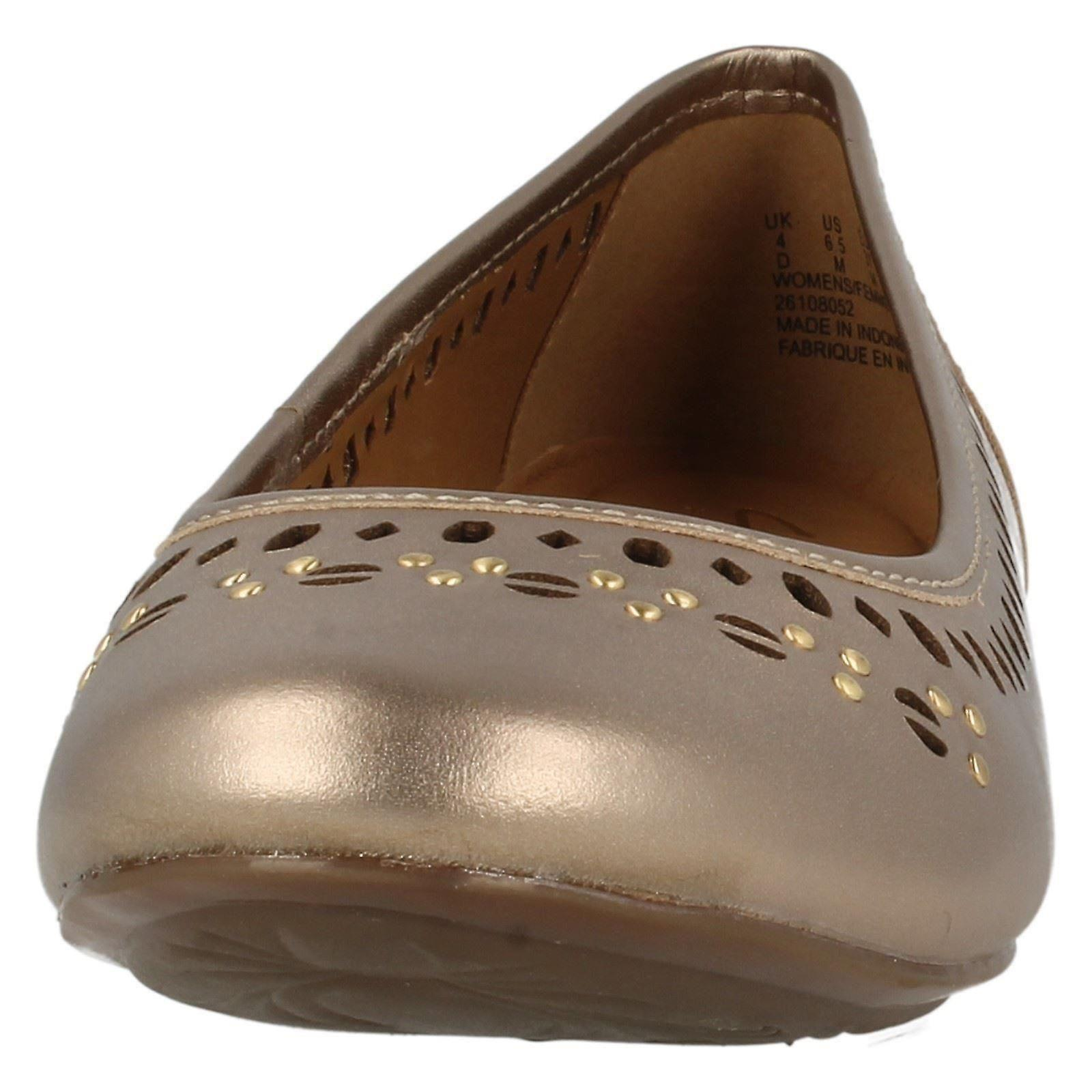 Ladies Clarks Flat Ballet Style Style Style Shoes Henderson Hot a1c1a5