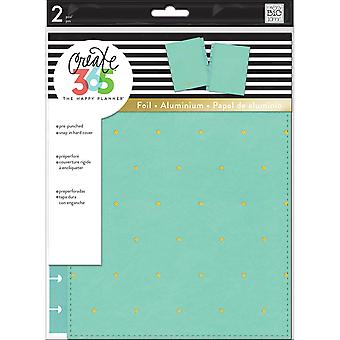 Create 365 Classic Snap-In Hard Cover Planner-Sky Blue Dot COLC-4