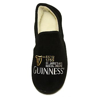 Guinness Mens Melville Embroidered Fleece Lined Slippers
