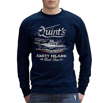 Quints Amity Island Boat Tours Jaws Herren Sweatshirt