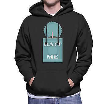 Köder mir Angeln Herren Sweatshirt mit Kapuze