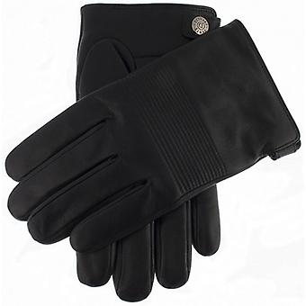 Dents Chartham Quilted Detail Gloves - Black