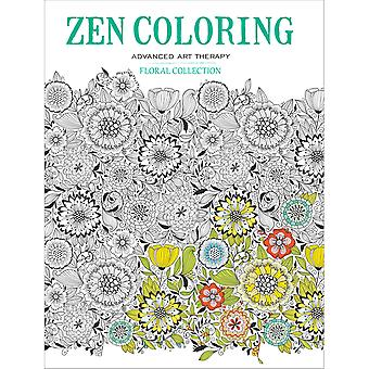 Guild Of Master Craftsman Books-Floral Collection, Zen Coloring GU-43387