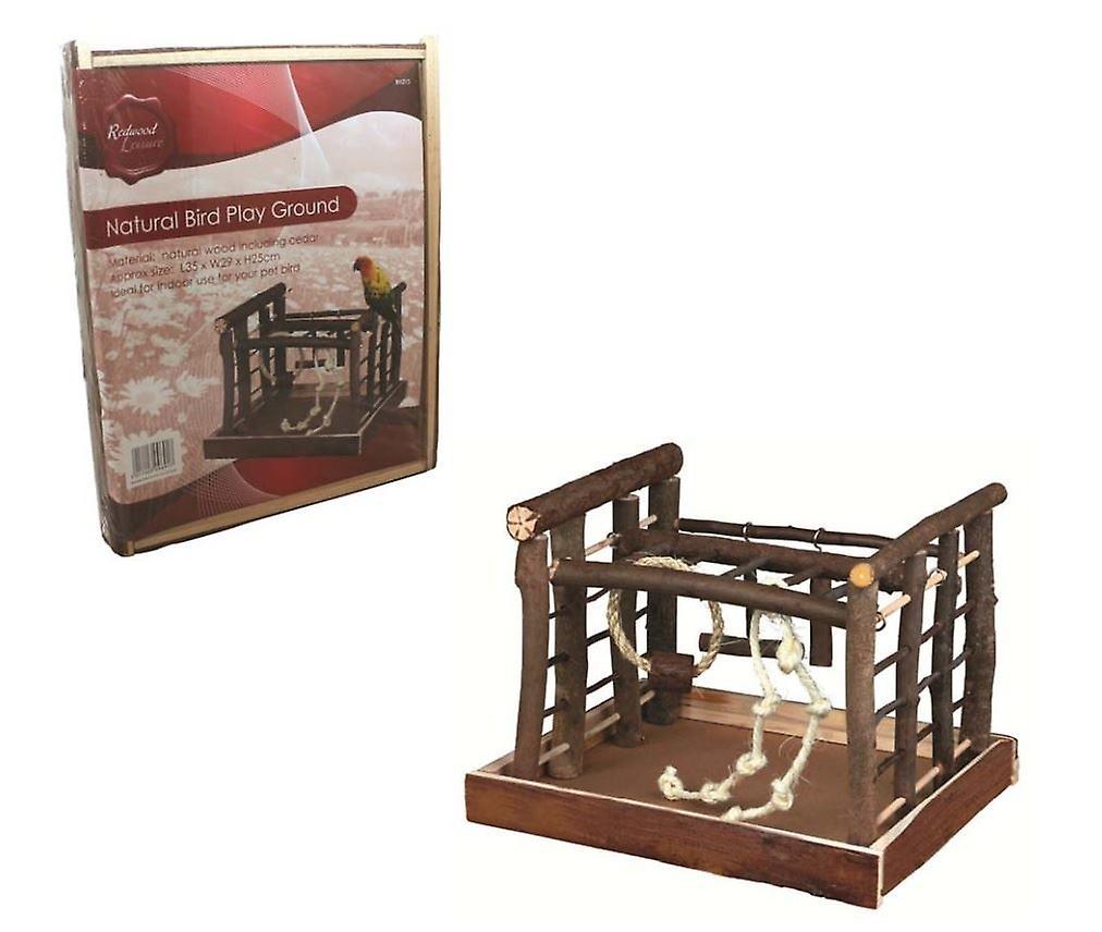 35cm Natural Wooden Pet Bird Indoor Playground Swing