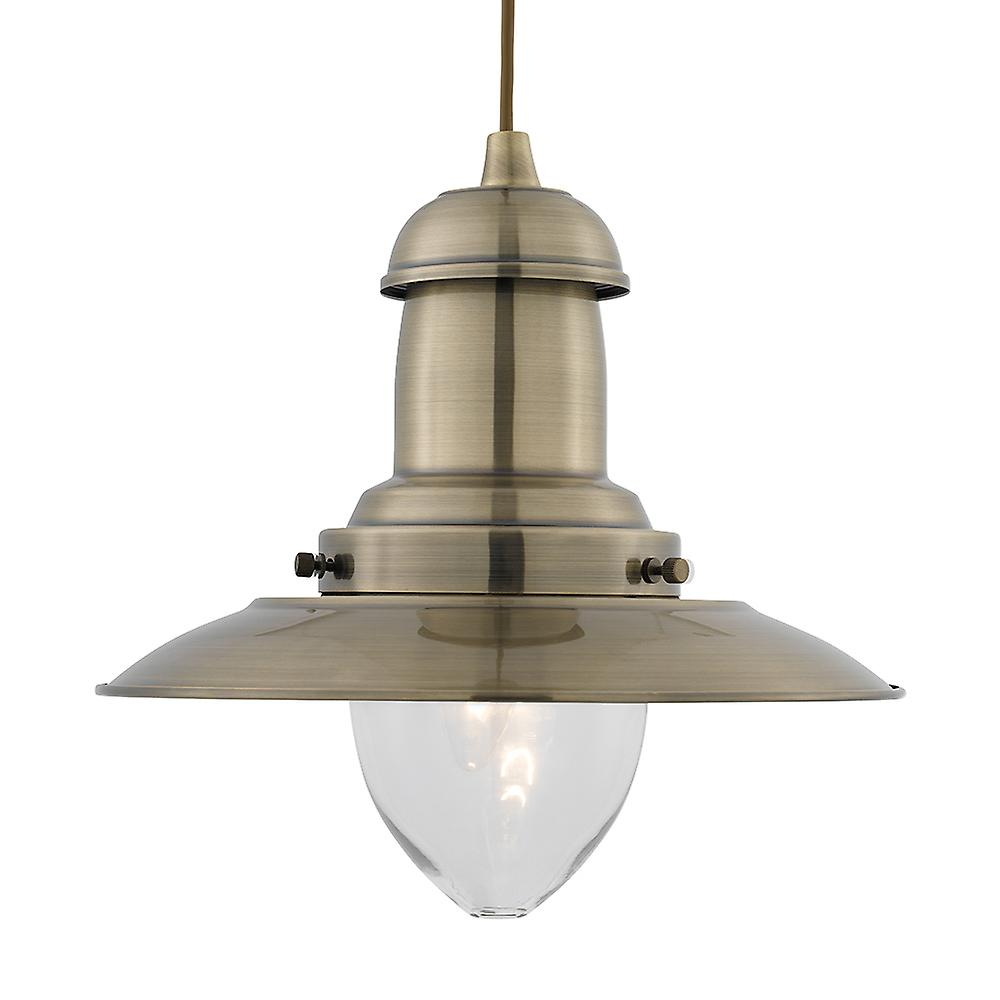 Searchlight 4301AB Large Fisherman Pendant Ceiling light Antique Brass