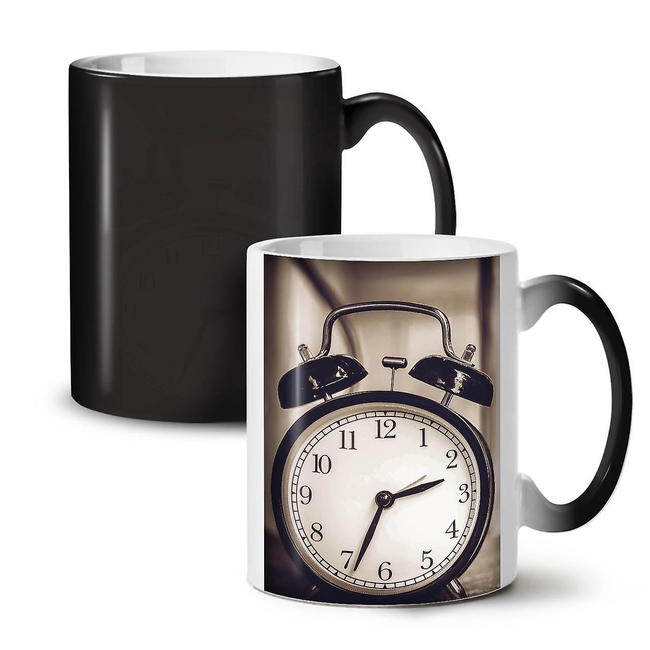 Céramique 11 Café Noir OzWellcoda Cool De Nouveau Changeant Rétro Thé Horloge Tasse Couleur WDIEH29Y