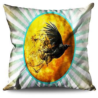 Raven Cosmos Moon Space Linen Cushion Raven Cosmos Moon Space | Wellcoda
