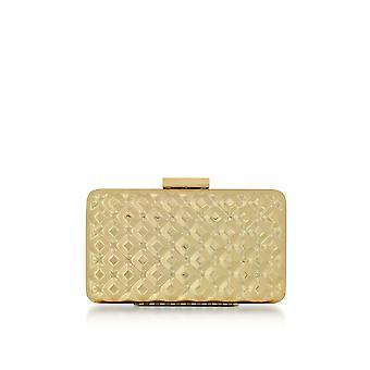 Love Moschino ladies JC4113PP15LV0901 gold metal clutch