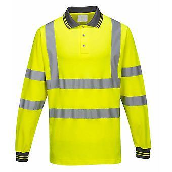 Portwest - Привет Vis Рабочая одежда с длинными рукавами хлопка комфорт поло