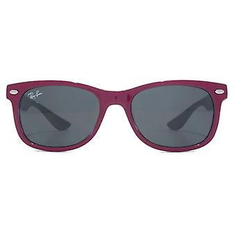 Ray-Ban Junior Wayfarer Sunglasses In Red Fuchsia On Grey
